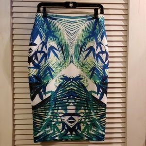 Multicolor high waisted skirt